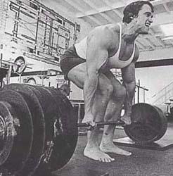 Arnold Schwarzenegger powerlifting deadlift 1